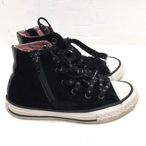 Converse Kids Black All Star High Tops Size 12